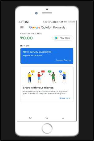 google opinion rewards survey