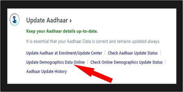update demographic data online