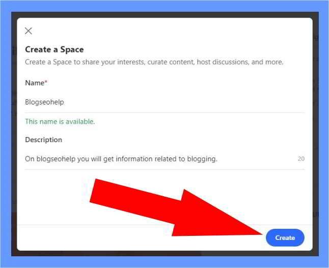 create quora spaces